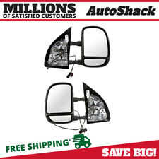 Power Tow Side Mirror Pair for 1999-2003 Ford F-250 F-350 F-550 F-450 Super Duty