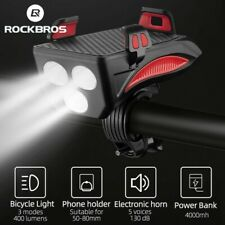 ROCKBROS Front Light USB Bike Light 4 In 1 Multifunctional Waterproof Headlight