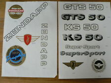 STICKERS,DECALS ON PAPER ZUNDAPP GTS 50, KS 50 SUPERSPORT SIX DAYS 1975 ZÜNDAPP