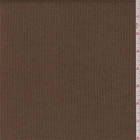 Dark Cocoa Brown Wool Blend Jacketing, Fabric By The Yard