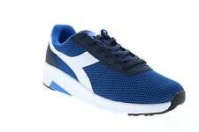 Diadora Evo Run 173986-60063 Mens Blue Canvas Lifestyle Sneakers Shoes