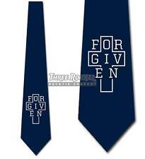 Forgiven Navy Religious Tie Men's Easter Neck Ties Church Necktie Brand New