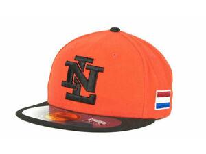 Netherlands Men's New Era 59FIFTY World Baseball Classic Hat Cap - Orange/Black