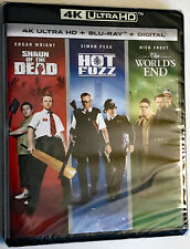 Shaun of the Dead Hot Fuzz The World's End 4K Uhd + Blu-Ray Sealed No Slipcover