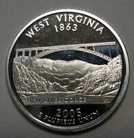 2005-S West Virginia Gem DCAM Silver Proof State Quarter Stunning Coin