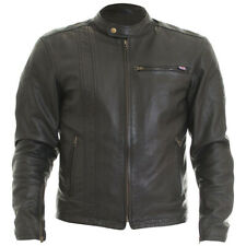 Wolf 2410 Spirit Leather Leather Motorcycle Motorbike Jacket D30 Armour - Black