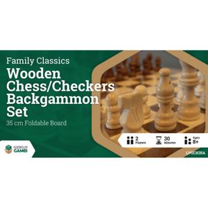LPG Wooden Folding Chess/Checkers/Backgammon Set 35cm - NEW Board Game - AUS Sto