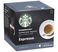 12 x Starbucks ESPRESSO ROAST coffee pods capsules by Nescafe Dolce Gusto