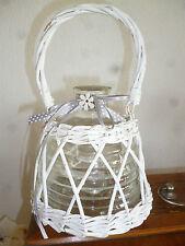 Korbvase mit Glaseinsatz,Vase,Korb,Körbe,Vasen,Shabby shic,Vintage,Landhaus,Deko