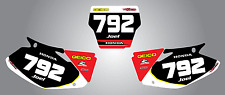 Custom Number Plates for Honda CRF 450 2002 - 2004 stickers decals Sonic style