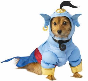 Disney Aladdin Blue Genie Pet Dog Costume Jinn Clothes Dress Up SM-XXL