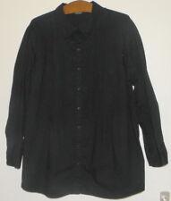 M.I.M sehr schöne Baumwoll Bluse  Gr. 52/54 in schwarz