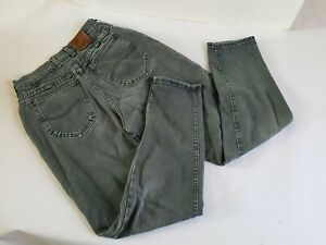 Vintage 1990s Lee Rivited Levis Straight Leg High Waisted Dark Stone Washed 26 x