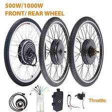 "500/1000W 26"" Electric Bike Motor Conversion Kit E Bicycle Front/Rear Wheel PAS"