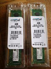 Crucial CT51272BA PC3-8500 PC3-8500E 4GB ECC Unbuffered MacPro Mac Pro 4.1-5.1 2
