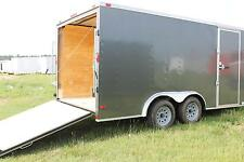 8.5x16 Enclosed Trailer Cargo V Nose Utility Motorcycle Lawn Box Hauler 14 18