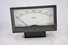 Vintage Wacline Panel Meter 0-1800 RPM TVX4-T0042 FS = 200 ua Steampunk