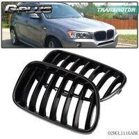 For BMW F25 X3 2012 2013 2014 2015 Front Bumper Kidney Grille Glossy Black