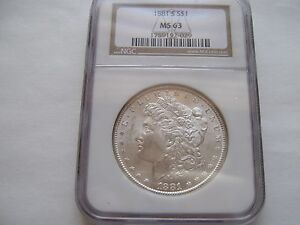 1881-S Morgan Dollar - MS-63 NGC