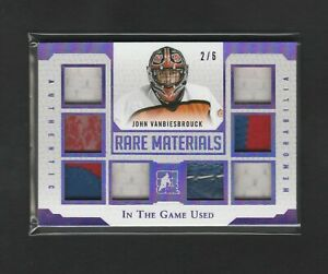 2016-17 Leaf In The Game Used Rare Materials John Vanbiesbrouck 2/6 Patch