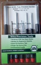 Wiha Precision Screwdriver 7Pc Set Slotted 1.5 to 3.0 / Phillips #00 #0 #1