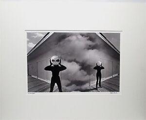 VINCENT SERBIN (B-1951) NEW YORK 1988 SURREAL MODERNIST BLACK & WHITE PHOTOGRAPH