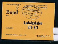 "85279) Überlandpost Munster - Soltau 0304-03/10 ""a"" PB-Zettel Lg : 670-674 Pfalz"