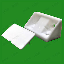 8x White Plastic Mini Corner Cabinet Connector Brace Bracket Support