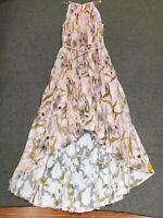 AUTH Ted Baker DIXXIE Cabana Pleated Maxi Dress Light Pink 0-5