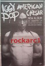 "IGGY POP American Caeser 1993 UK Press ADVERT 11x7"""