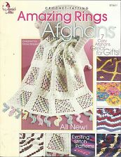 Crochet-Tatting Pattern Booklet-Amazing Rings Afgans-7 Cozy Afghans