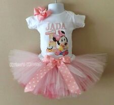 First Birthday Outfit Minnie Mouse Pink 1st Birthday Dress Tutu Custom Baby