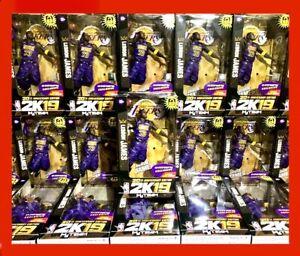 (10)LEBRON JAMES NBA 2K19 FIGURE x McFarlane LA LAKERS RARE 20th ANNIV NTWRK Toy