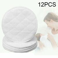 12 Stück Stilleinlagen Baumwolle Seide 3-lagig Stillpads für Brust 10cm waschbar