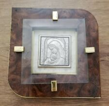 Religious Picture silver relief Art Lastra Argento 925 Framed Metal Picture