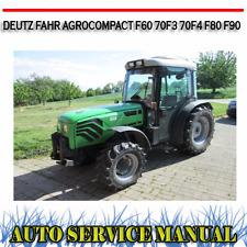 DEUTZ FAHR AGROCOMPACT F60 70F3 70F4 F80 F90 WORKSHOP SERVICE MANUAL ~ DVD