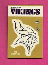 1982 MINNESOTA VIKINGS STICKER SCHEDULE NRMT-MT  (INV# C0141)