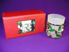Lenox Holiday Votive Candle Holder + Tea Light New In Box