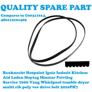WHIRLPOOL AZB 9772 AZB 9780 AZB 9780/1 AZB 9781 Tumble Dryer Belt 2010PH7