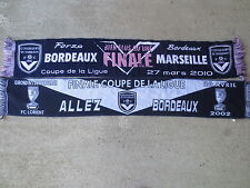 Lot 2 Echarpe GIRONDINS de BORDEAUX Finale COUPE de la LIGUE Lorient Marseille