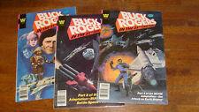 "1979 WHITMAN COMICS: BUCK ROGERS #2, 3, 4 in the ""FINE CONDITION"" area"