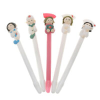 Black Nib School Supplies Ballpoint Pen Ballpen Soft Clay Nurse Appearance
