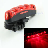 5 LED Bright Bike Bicycle Cycling Flashlight Rear Tail Torch Back Light Lamp Red