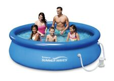 New listing Summer Waves 10ft x 30in Inflatable Ring Quick Set Pool w Filter Pump Ships Fast