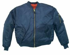 Bomber Jacket NAVY BLUE Fox Outdoor Nylon MA-1 Men's Military Flight Size Sz XL
