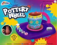 Childrens Pottery Wheel 450g Clay & Tools & Glitter Paint Kids Craft Toy 0711