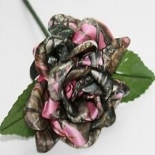 Pink Camo Rose - Wedding Country Rustic Bridesmaid Bouquet Flowers Redneck