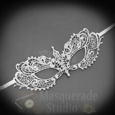 Anastasia Inspired Sexy Lace Masquerade Ball Mask with Rhinestones [Silver]