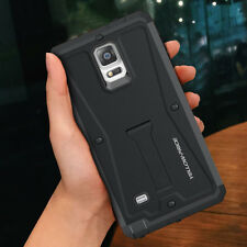 Heavy Duty Armor Tough hybrid Cover Stand Case Film for Samsung Galaxy Note 4