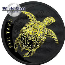 2011 1oz Fiji Taku - Black Ruthenium and 24kt Gilded Coin <mintage of only 200!>